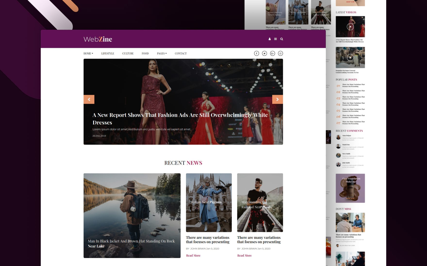 Webzine Website Template