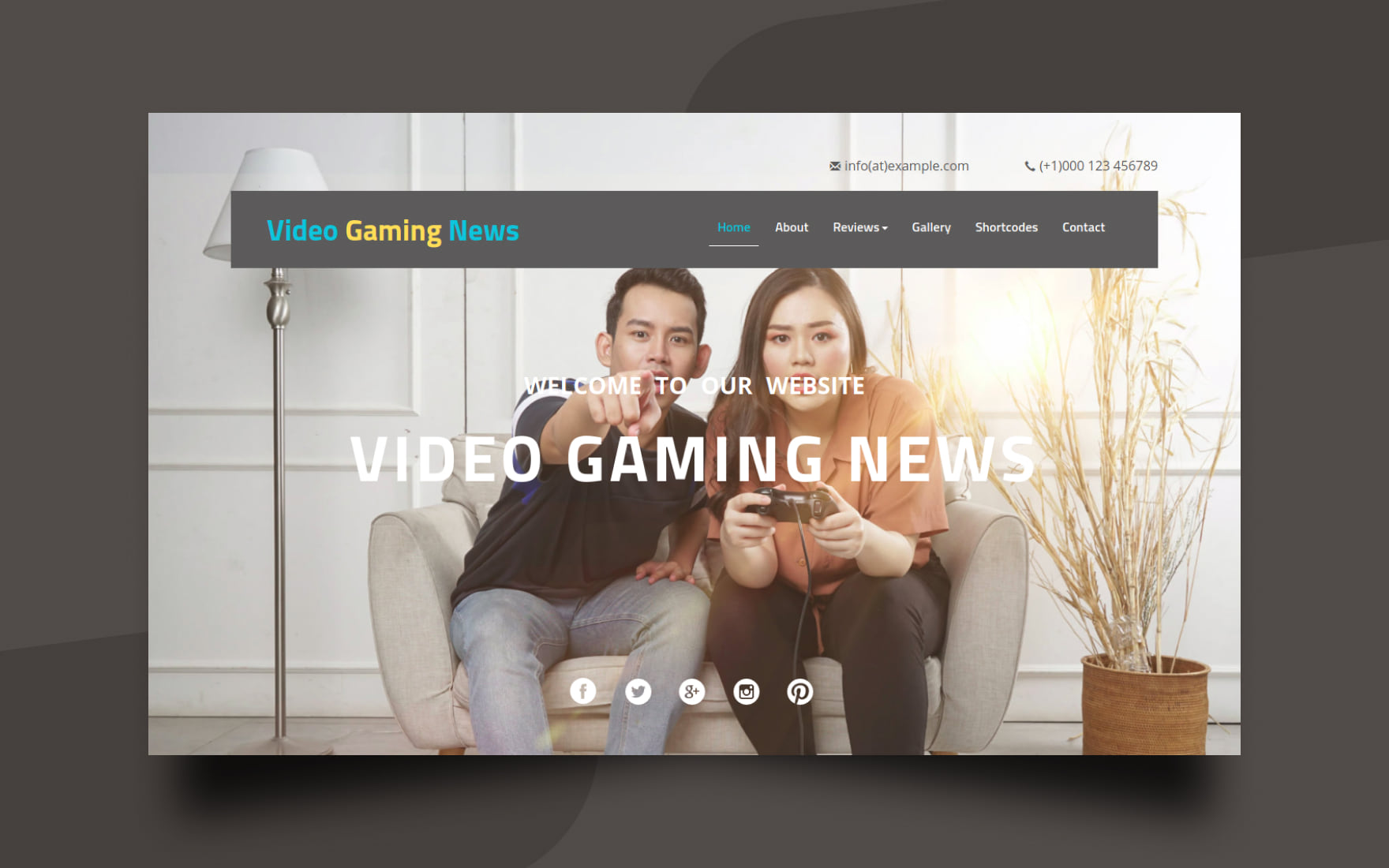 Video Gaming News Website Template