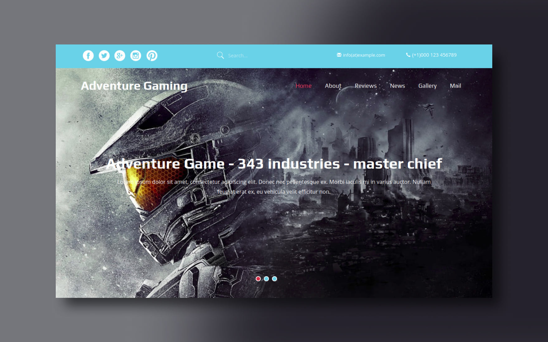 Adventure Gaming Website Template
