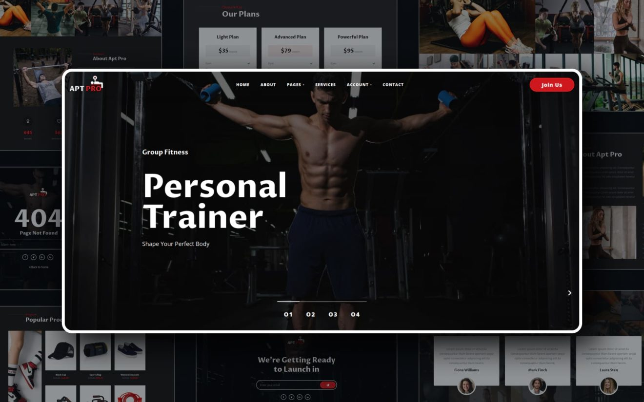 Apt Pro Website Template