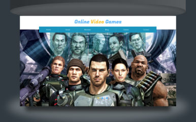 online video games website template