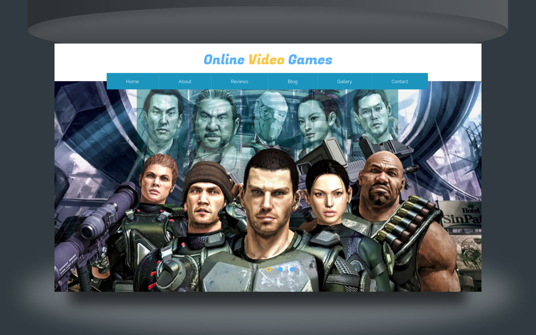 Online Video Game Website Template