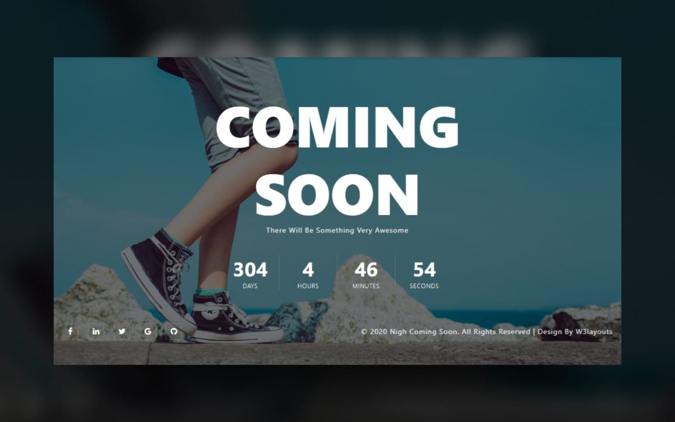 Nigh Coming Soon Web Element