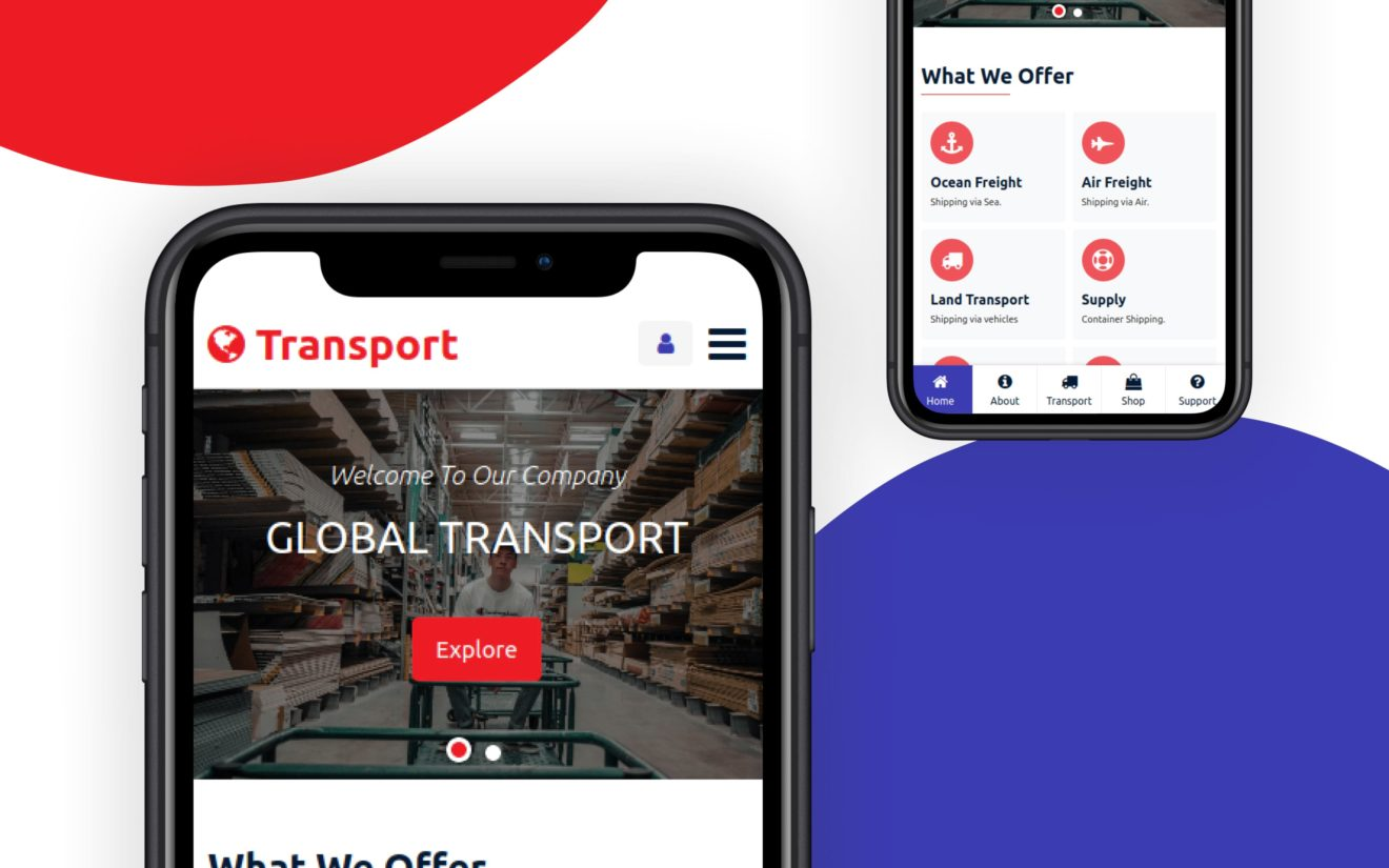 Global Transport Website Template
