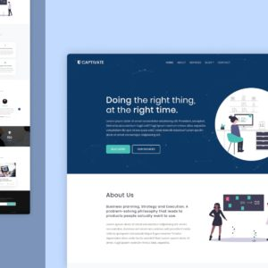 captivate website template