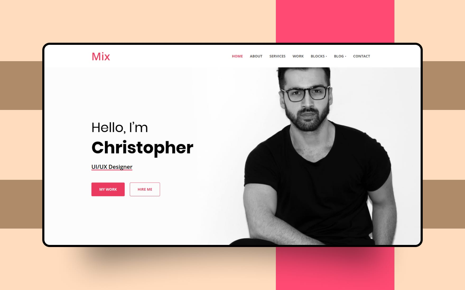 mix personal website template