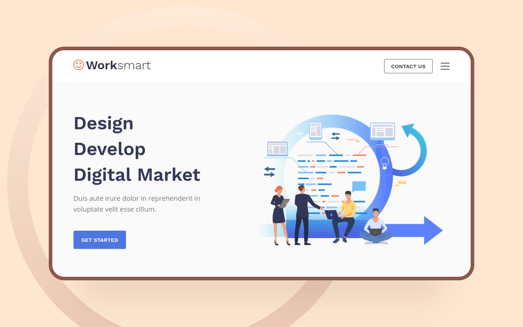 worksmart website template
