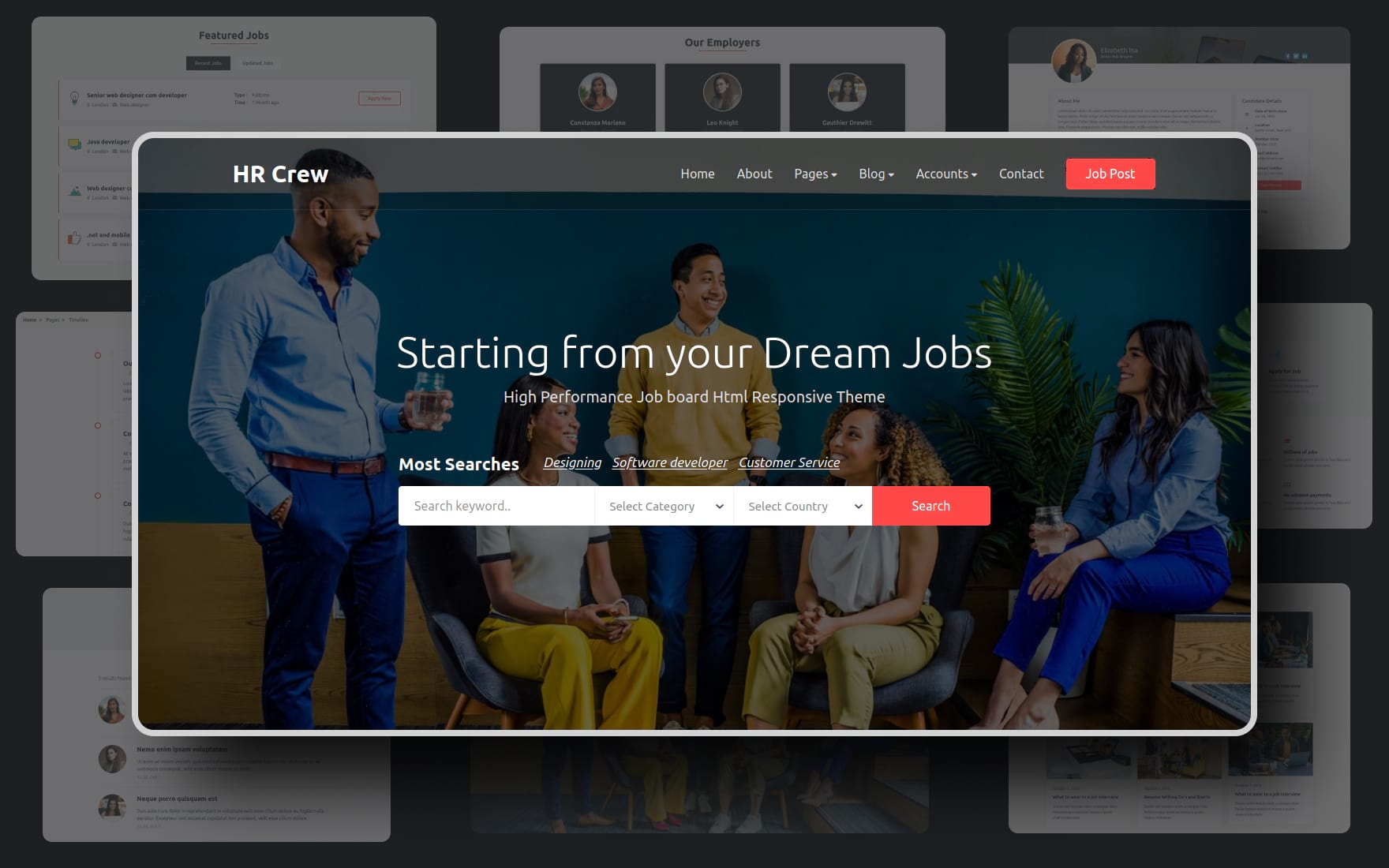 HR Crew Website Template