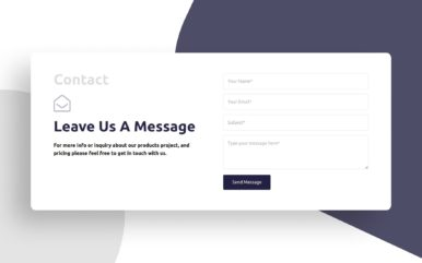 Clean Contact Form Web Element