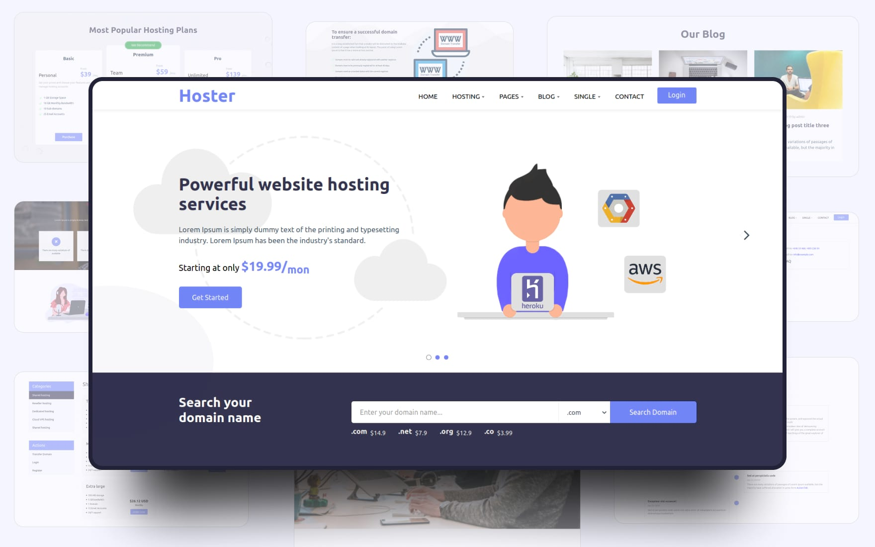 hoster website template