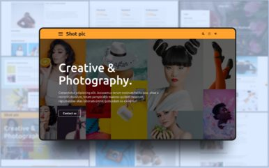shot pic premium website template