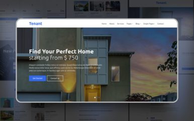 Tenant Website template