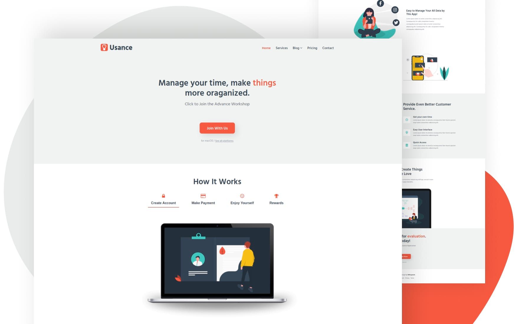 Usance Website Template