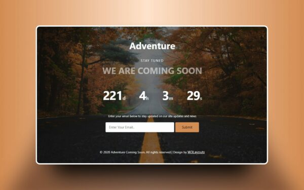Adventure coming soon form