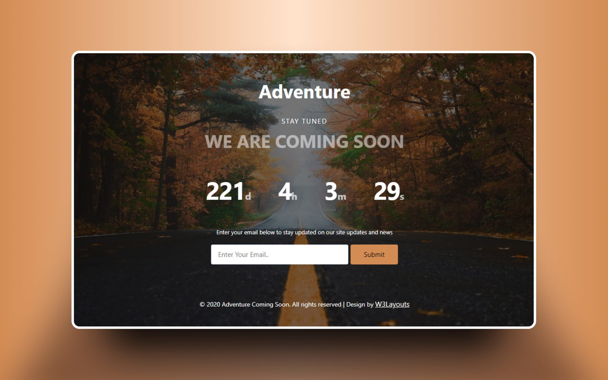 Adventure Coming Soon Web Element
