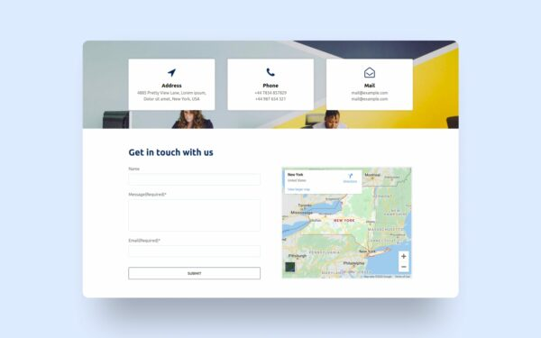 bright contact form