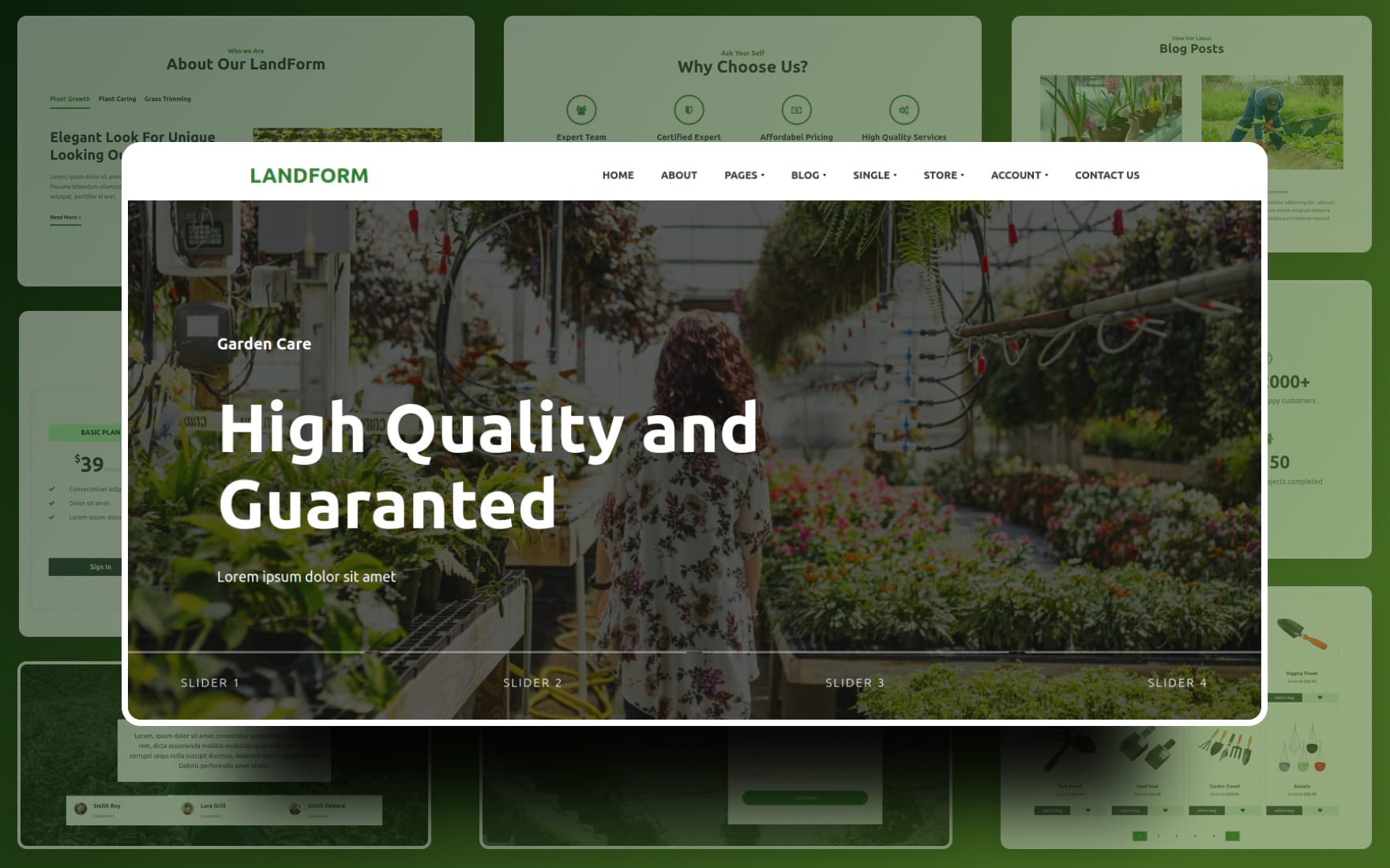 Landform Website template