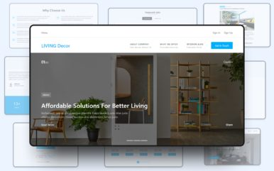 living decor website template