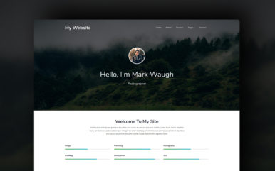 my website template