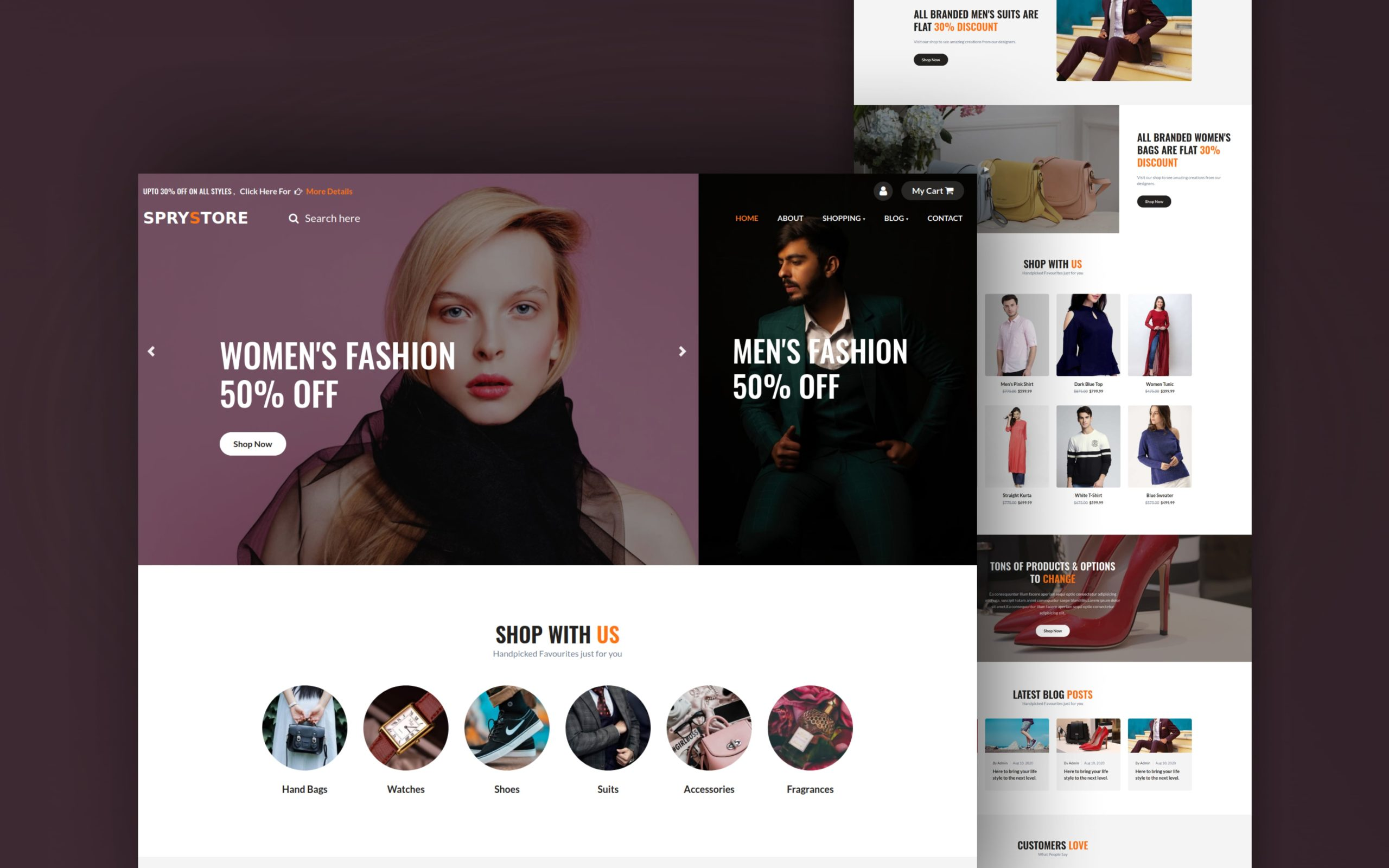 sprystore website template