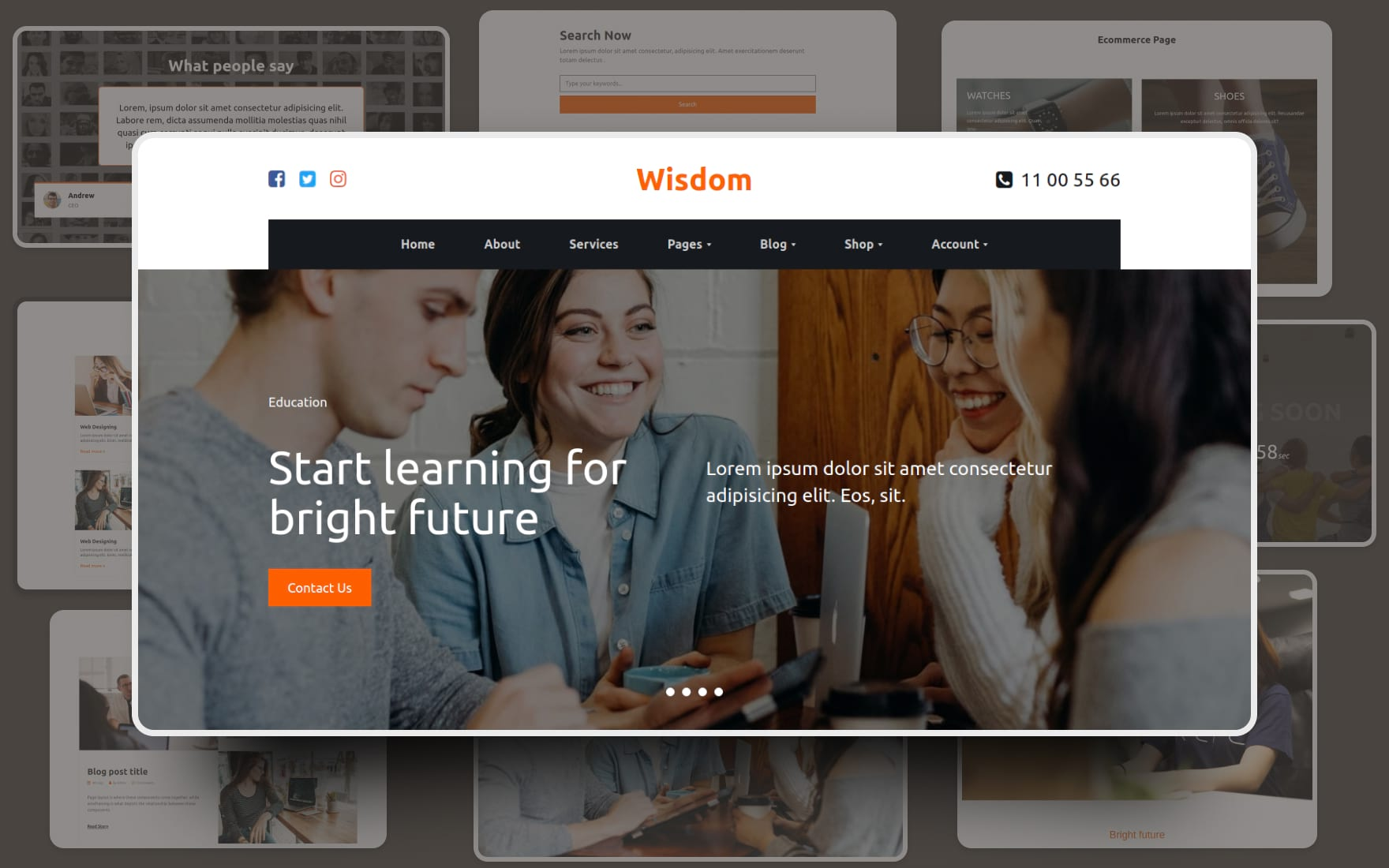 Wisdom Website Template