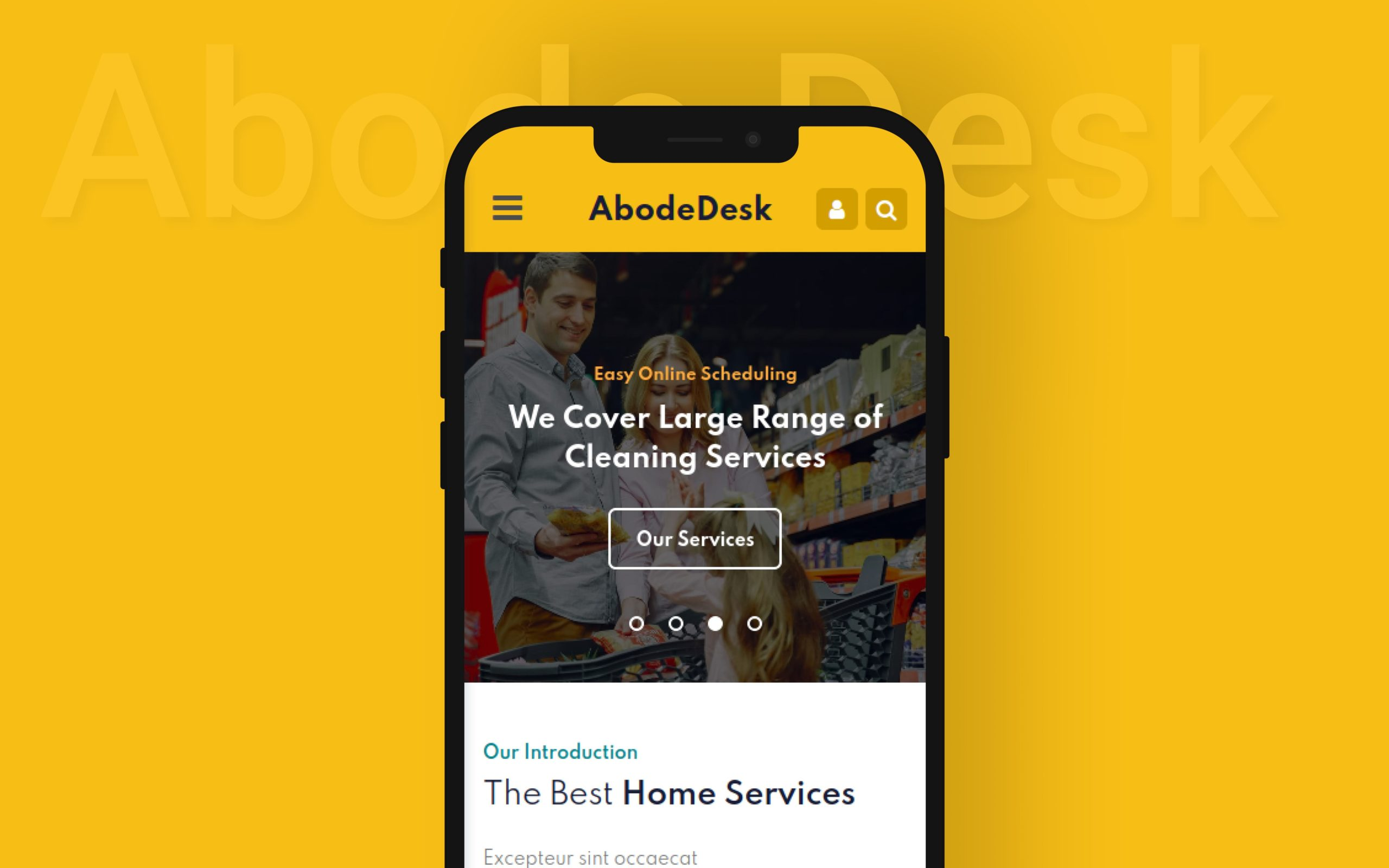 Abode Desk Mobile App Template