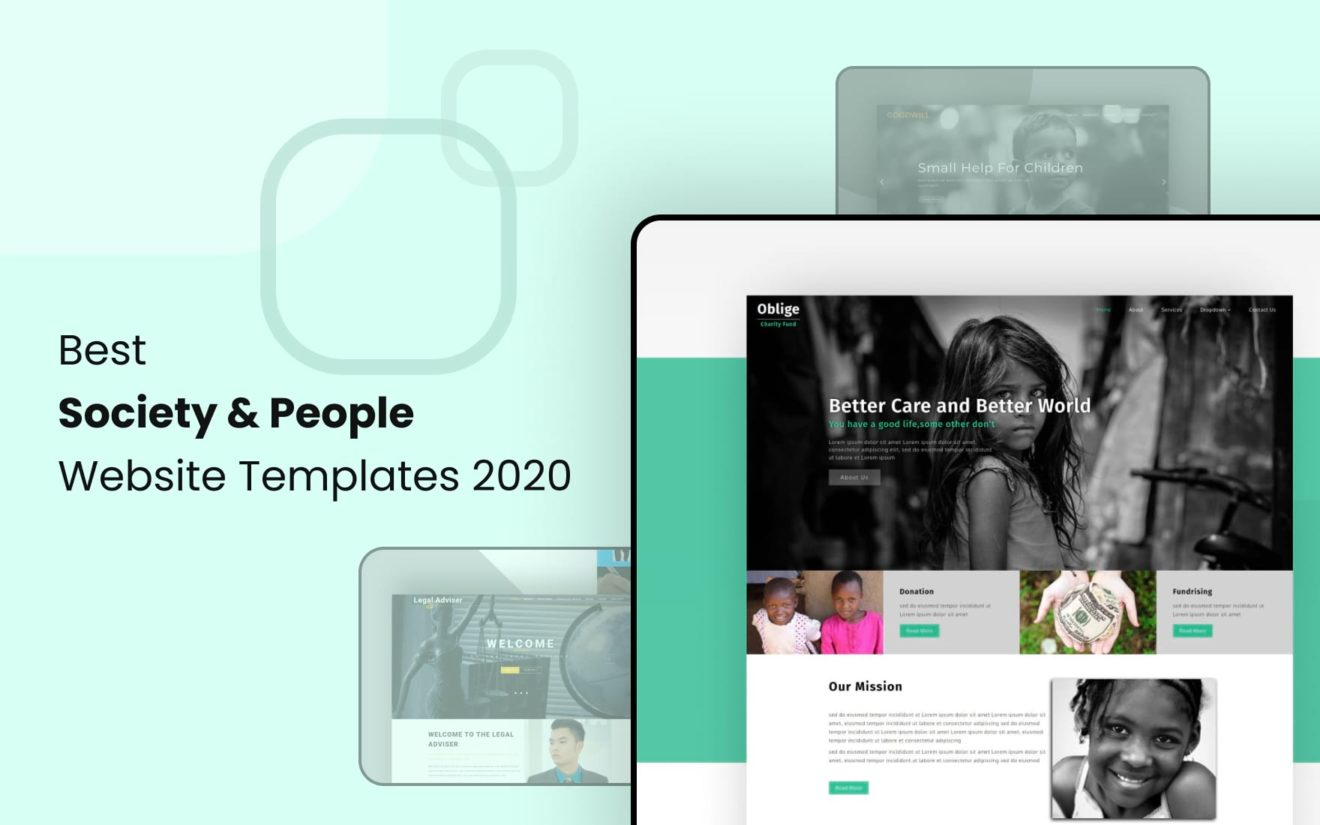 Best Free Society Website Templates 2020