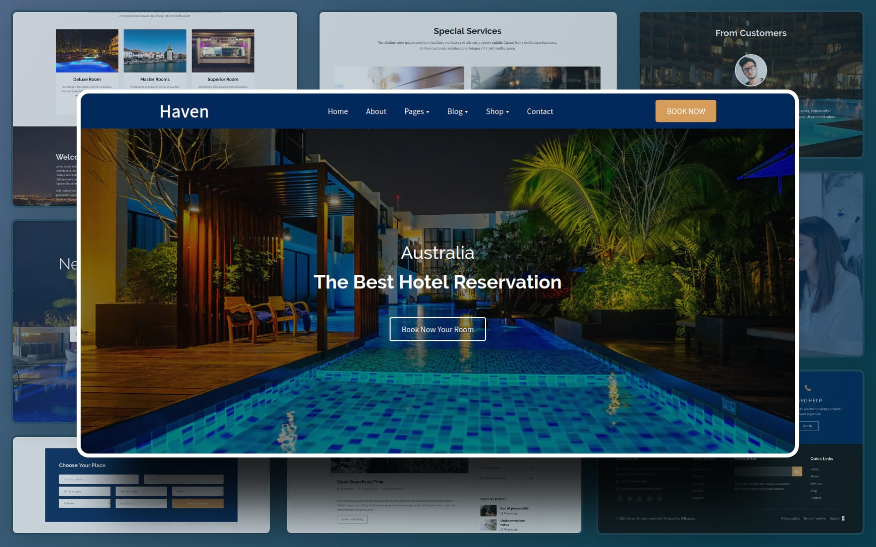 Haven Website template