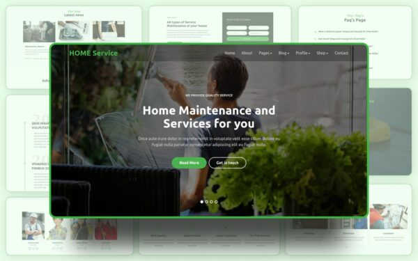 Home Service website template