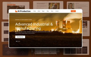 Mass Production Website Template