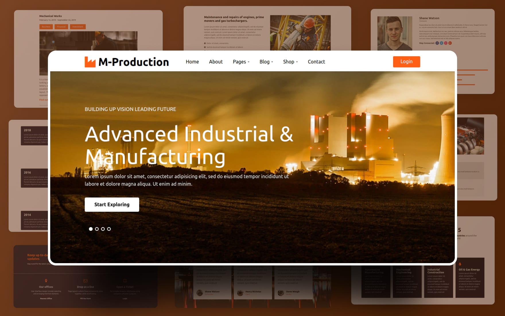 Mass Production Industrial Website Template