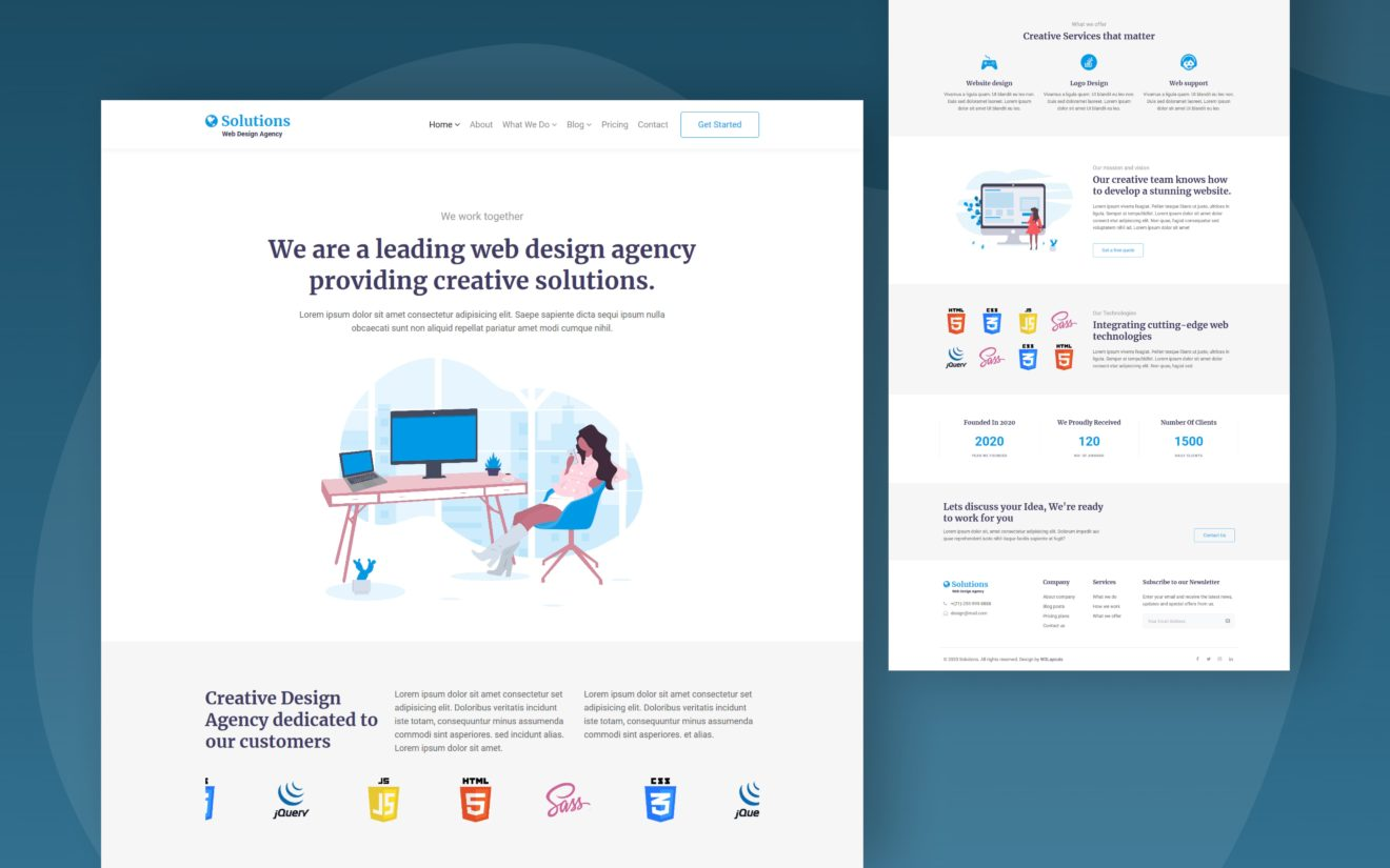 Solutions Website Template