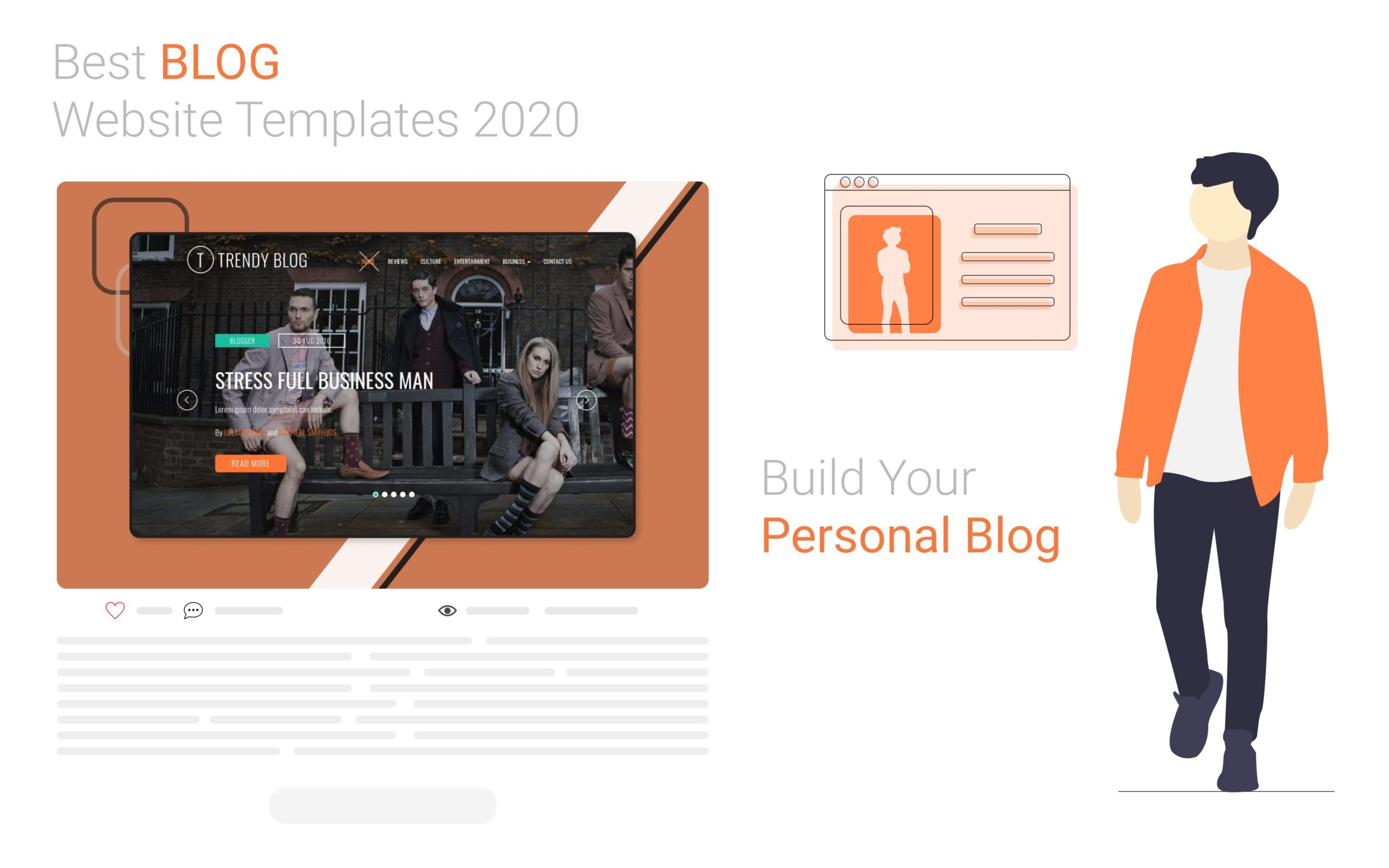 article on blogging template