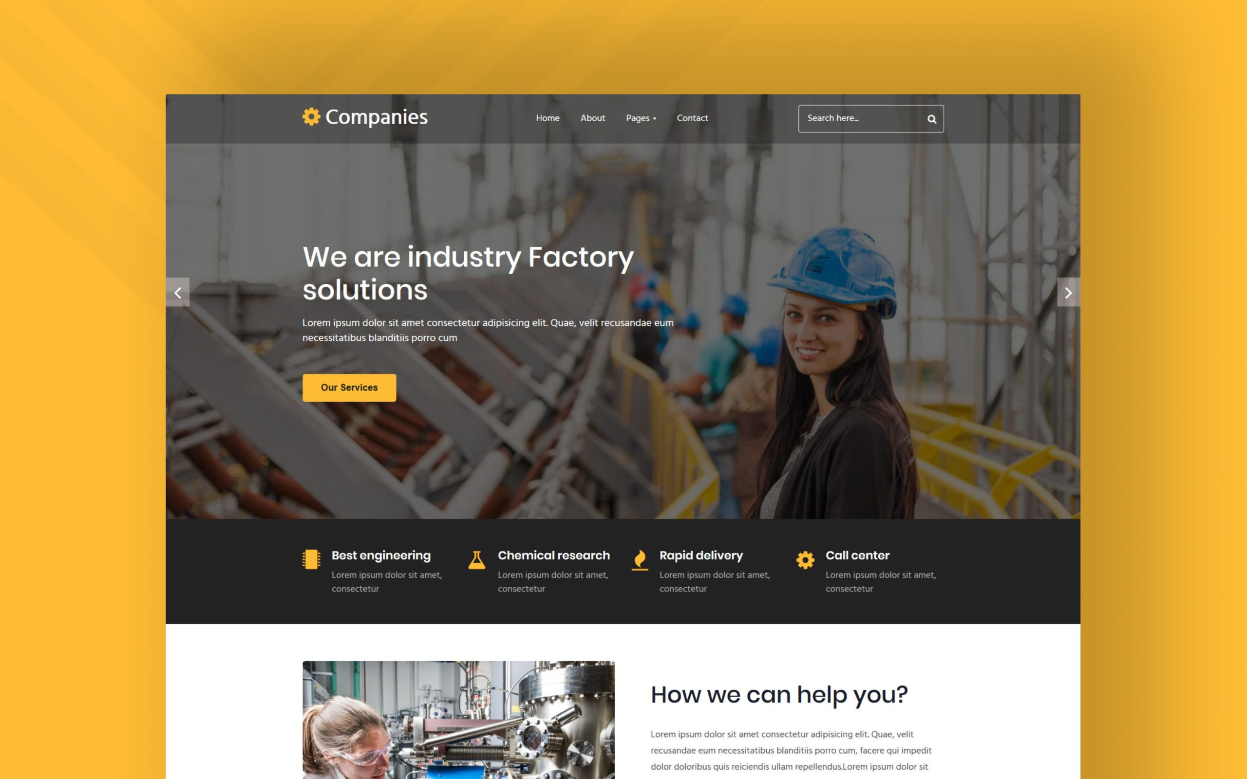 Companies Website Template