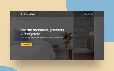 interior architect website template