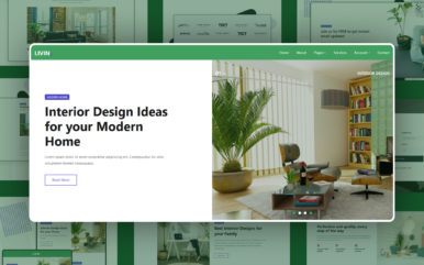 livin premium website template