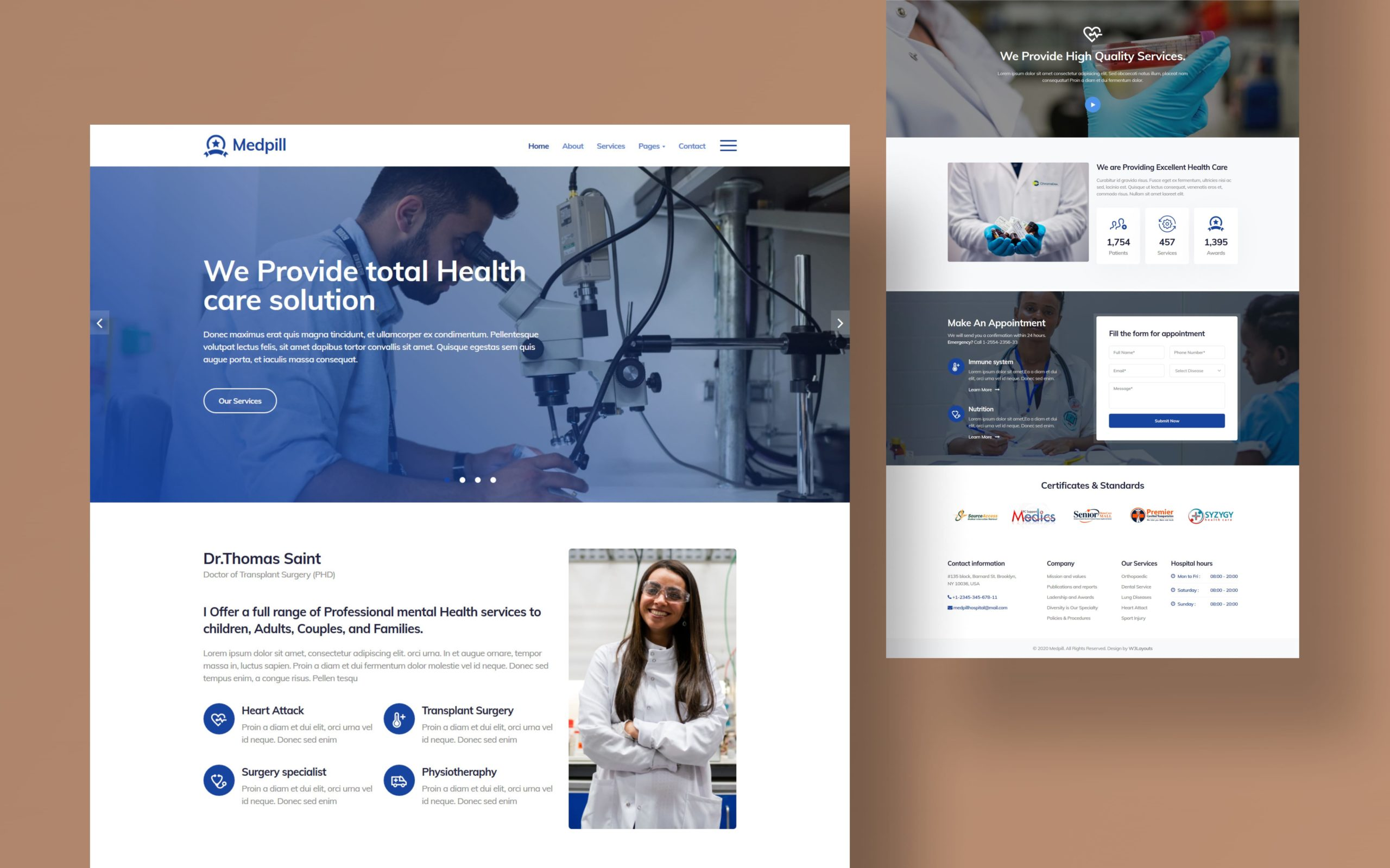 Medpill Website Template