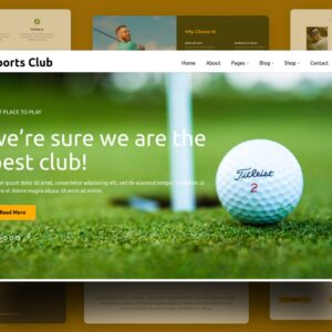 sports club website template