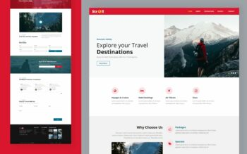 stroll website template