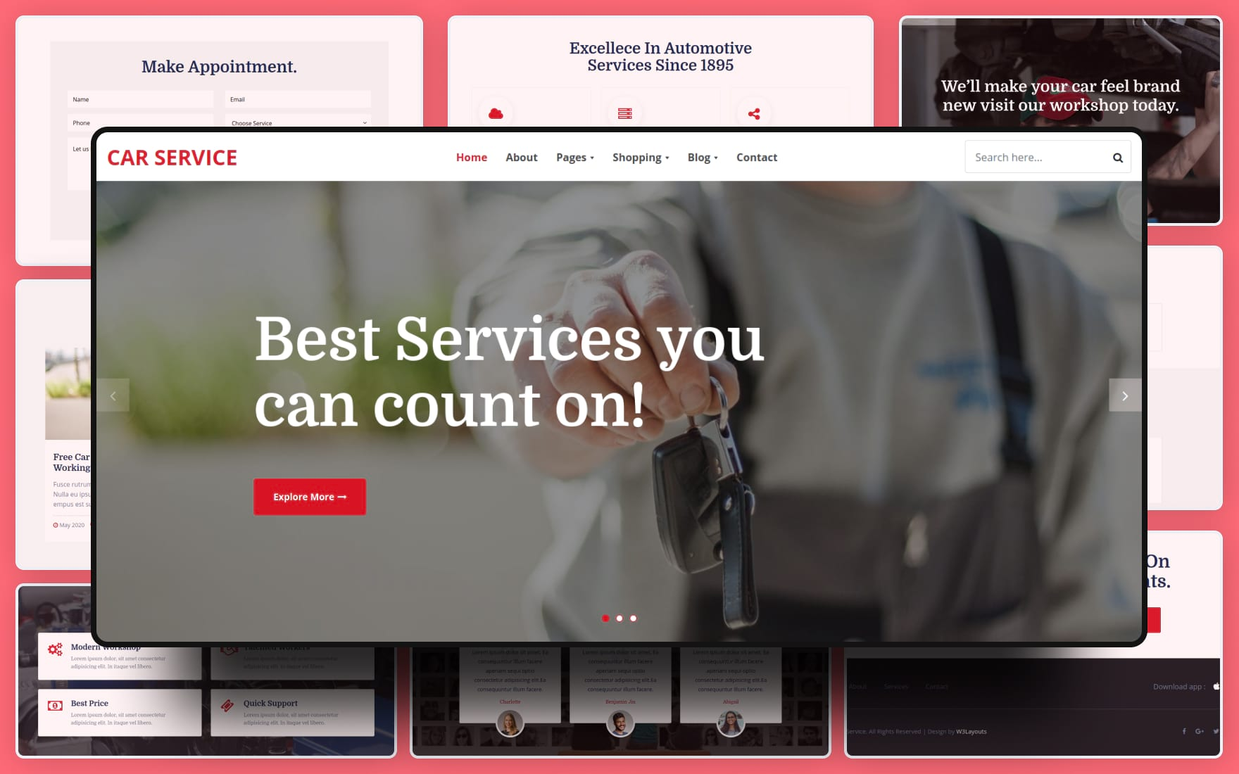 Car Service Website Template