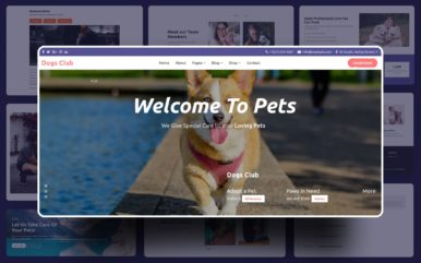 Dogs Club Website Template