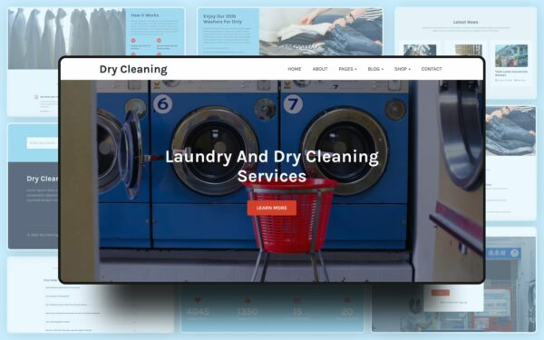 Dry Cleaning Website Template
