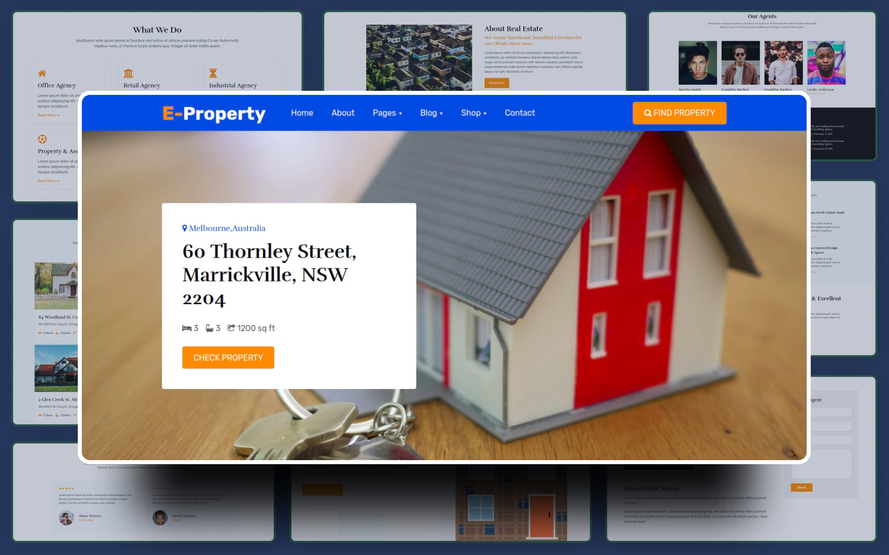 Estate Property Website Template