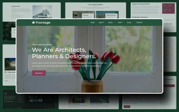 Frontage Website Template