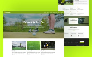 Golf Pro Website Template