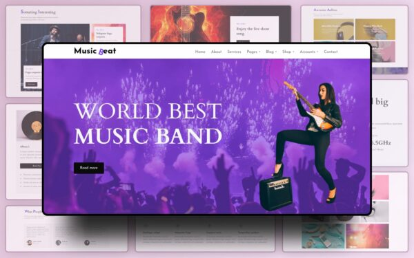 Music Beat Website Template