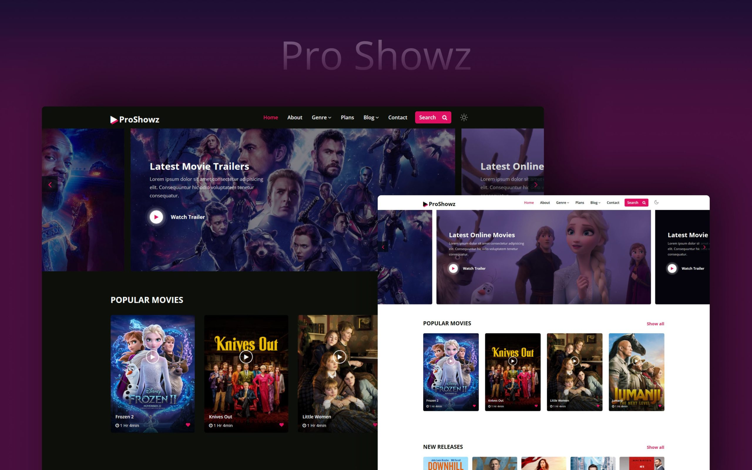 Pro Showz Website Template