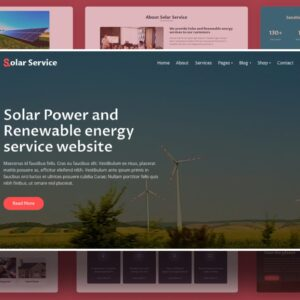 Solar Service Website Template