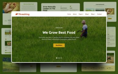 Threshing Website Template