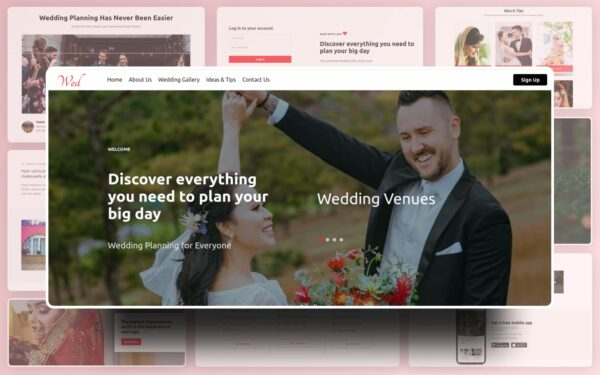 Wed Website Template